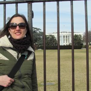 Em frente à Casa Branca / Voor Het Witte Huis