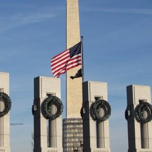 Monumento a Washington visto do Memorial da Segunda Guerra Mundial / Het Washington Monument gezien vanuit het Tweede Wereld Oorlog Memorial