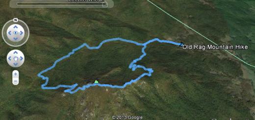 GPS log Old Rag Mountain Hike
