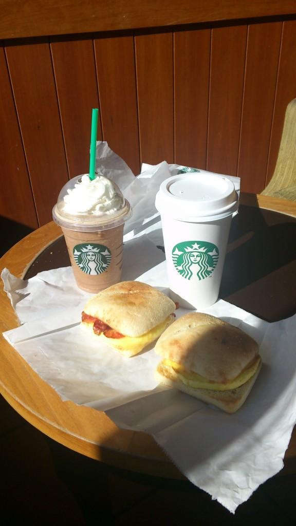 Starbucks ontbijt feestje / Celebração com pequeno almoço no Starbucks
