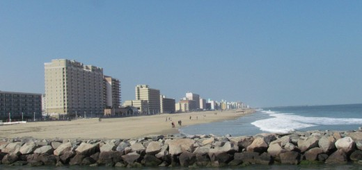 Vista sobre Virginia Beach / Uitzicht over Virginia Beach