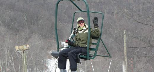 Fun in the skilift / A acenar do teleférico