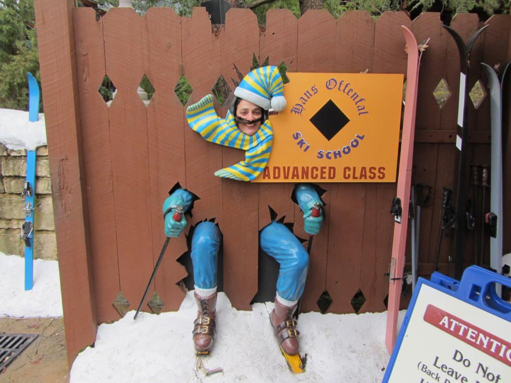 Rita nas aulas de ski do Hans Offenfall (Hans Caimuito) / Rita in de skischool van Hans Offenfal